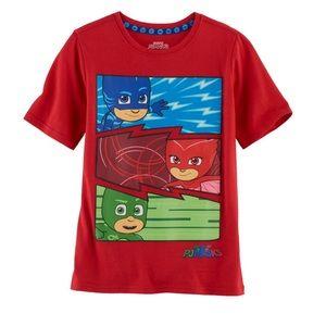 2 for $15  PJ Masks boys t-shirt size 4
